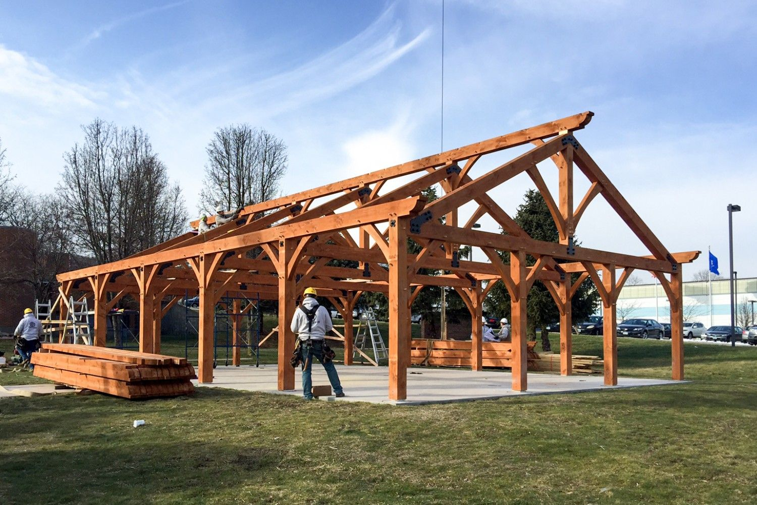 30 X 50 Timber Frame Pavilion At Wcsu The Barn Yard Great