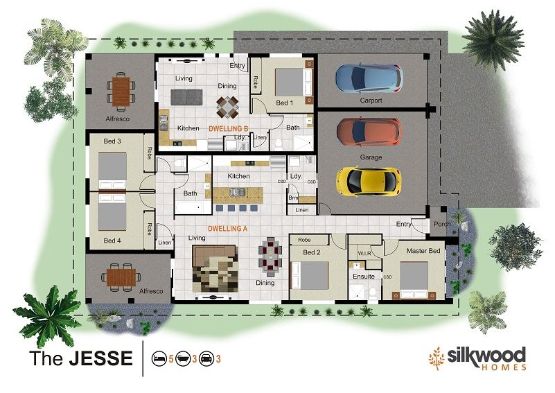 The Is The Main Design Page Showcasing Silkwood Homes Many Low Set Fascinating 3 Bedrooms For Sale Set Plans