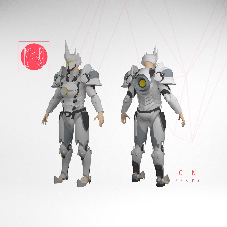 Pepakura Patterns Touch Me Armor