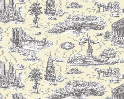 Toile From Your Town Toile Pattern Wallpaper Project Toile