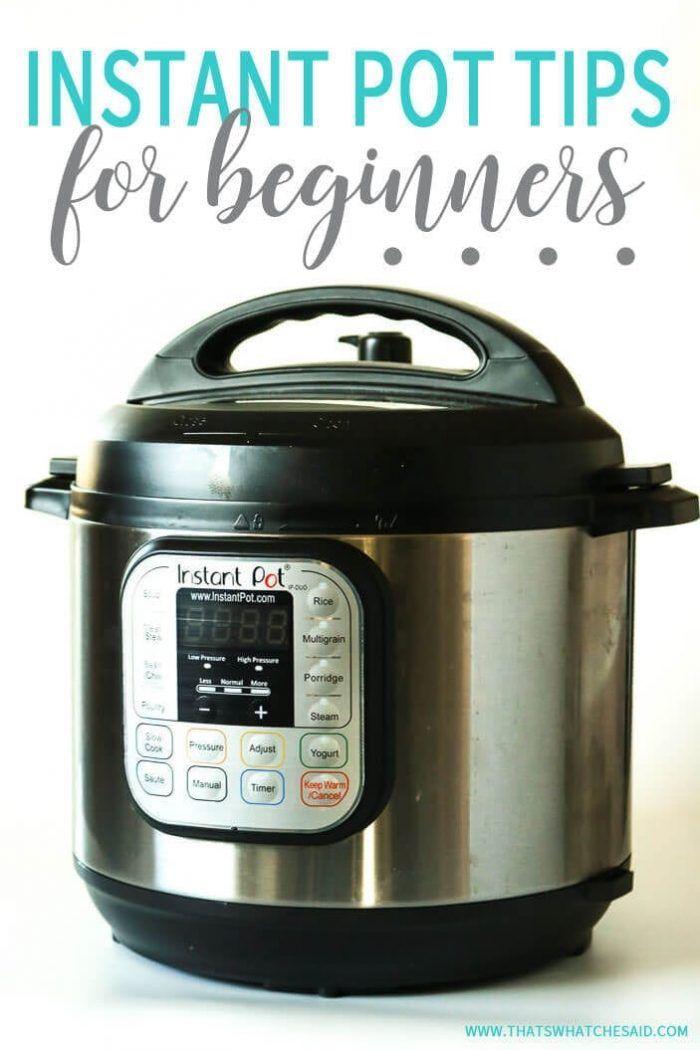 Instant Pot Tips & Tricks for Beginners #instantpotrecipesforbeginners