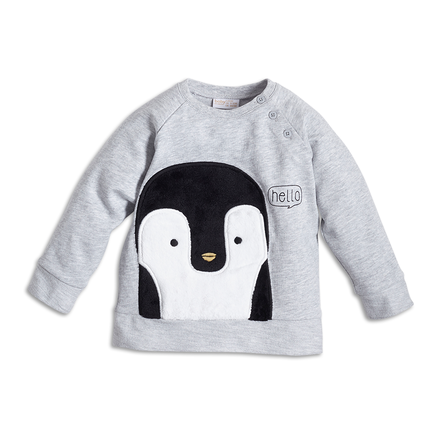 Palarn Baby Clothes Infant Baby Girls Boys Cartoon Penguin Hooded Tops Sweatshirt Pants Outfits Set
