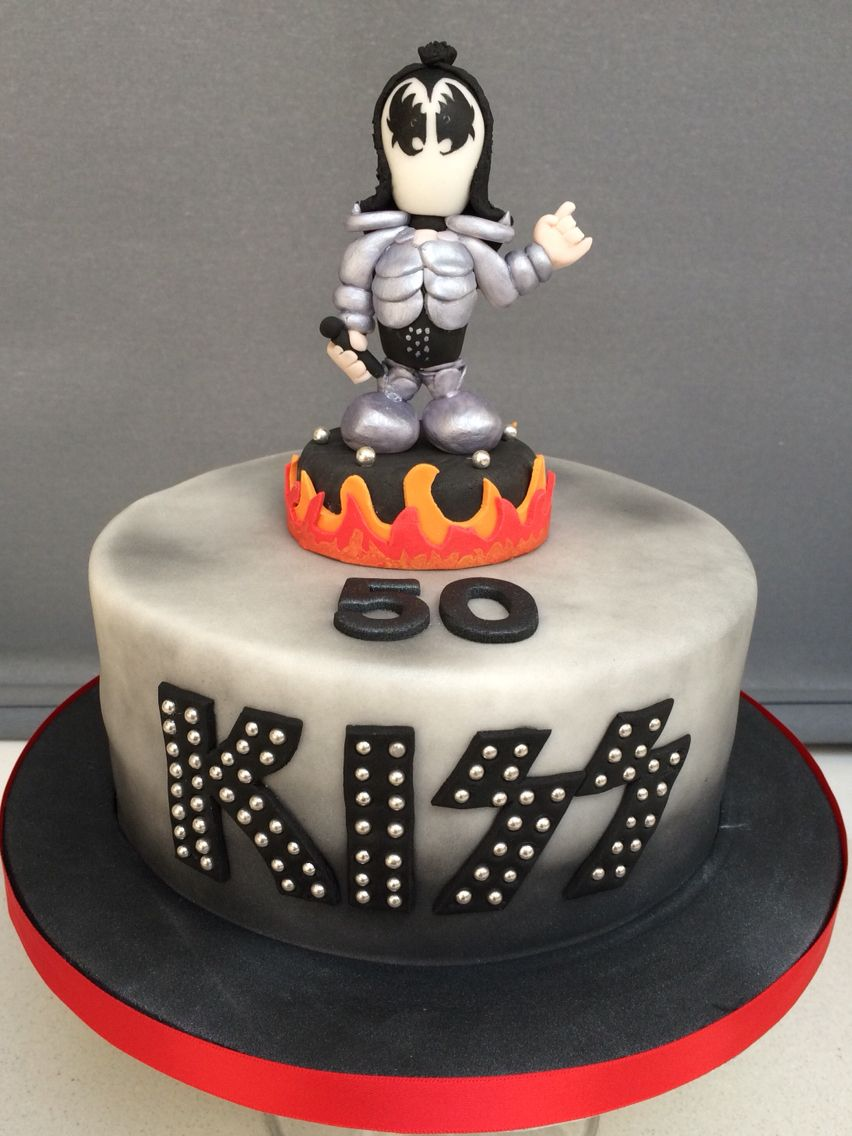 Kiss Rockband Cake Love My Model Of Gene Simmons Rock