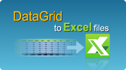 Export DataGrid to Excel file in C# and VB NET quick and