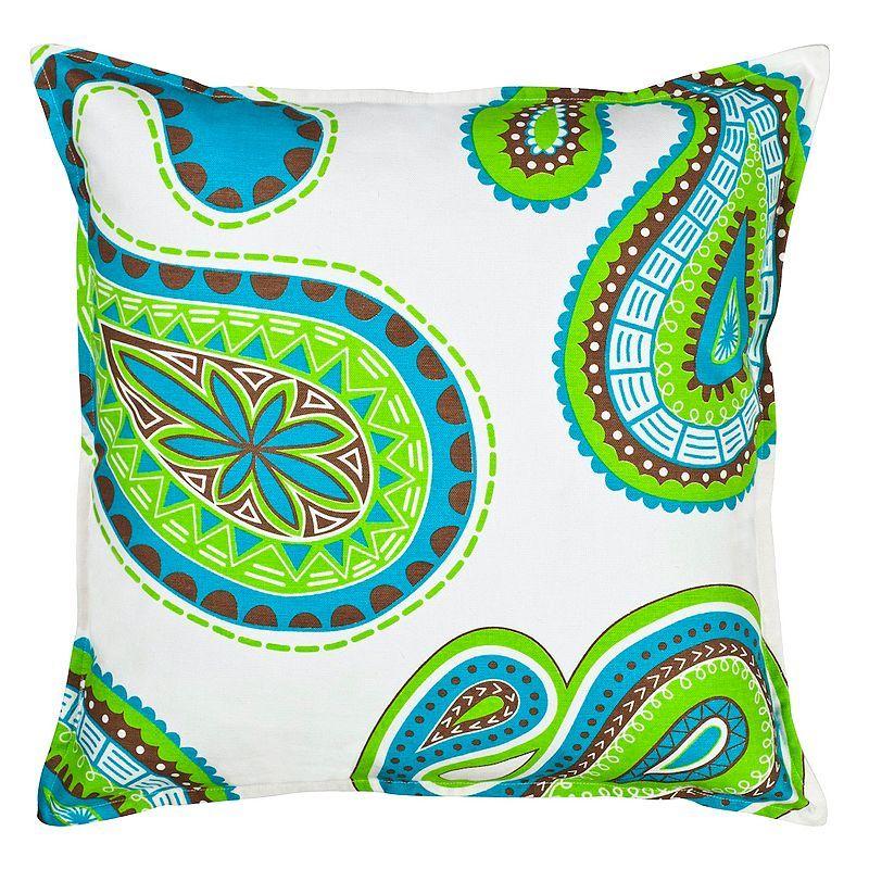 Greendale Home Fashions Paisley Throw Pillow, Green