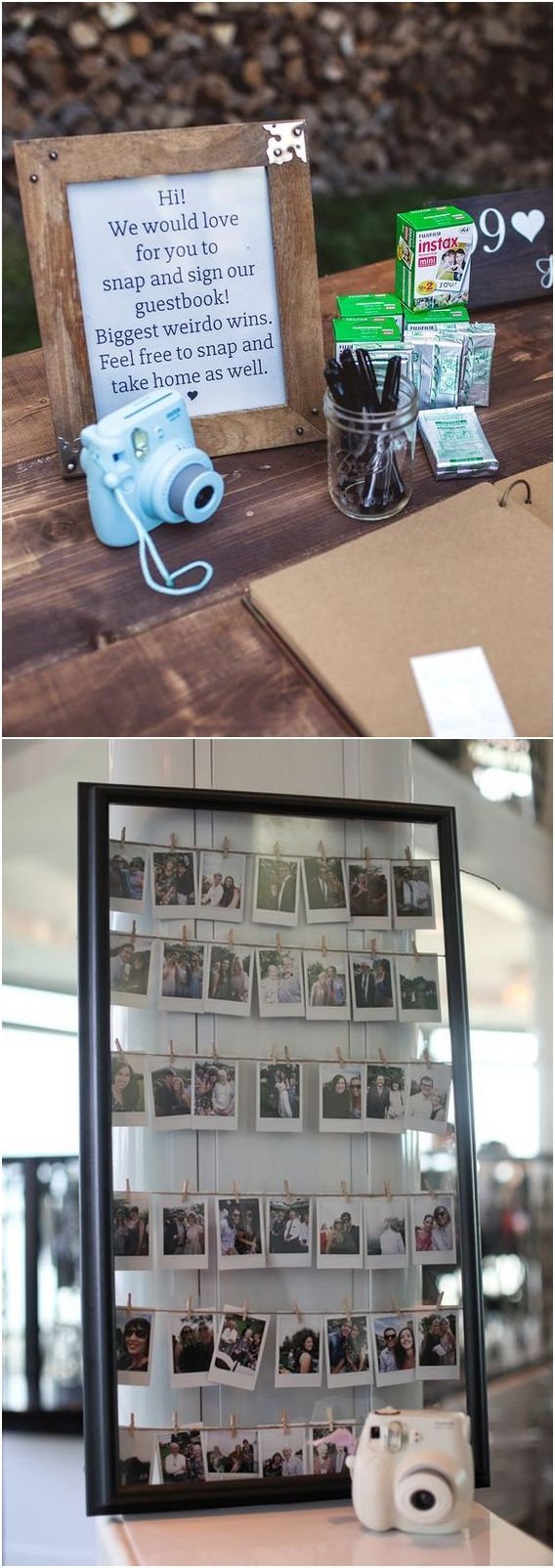 Polaroid Wedding Guest Books | Polaroid wedding, Wedding guest book,  Polaroid guest book wedding