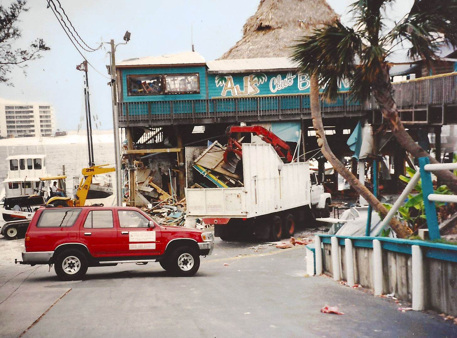 Who Remembers Aj S In 1995 This Shot Was Taken Right After Hurricane Opal Going Down The Hill To The 1st Floor Restaura Hurricane Opal Sweet Home Beach House