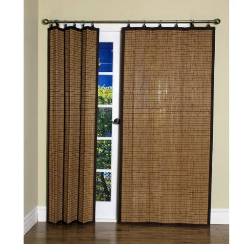 Bamboo Colonial Brown Ring Tab Curtain Panel 40 Quot X 84