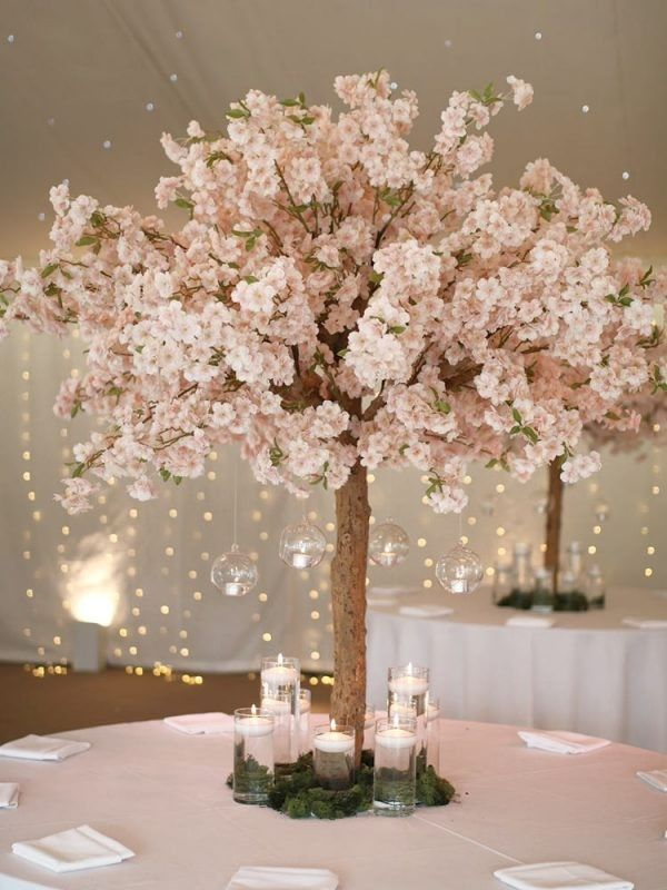 Pin By Bianca Dasilva On Table Designs And Centerpieces Cherry Blossom Centerpiece Cherry Blossom Wedding Centerpieces Cherry Blossom Theme