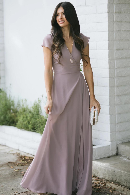 Melody Short Sleeve Maxi Wrap Dress Short Sleeves Dress Formal Maxi Wrap Dress Short Sleeve Maxi Dresses [ 1500 x 1000 Pixel ]