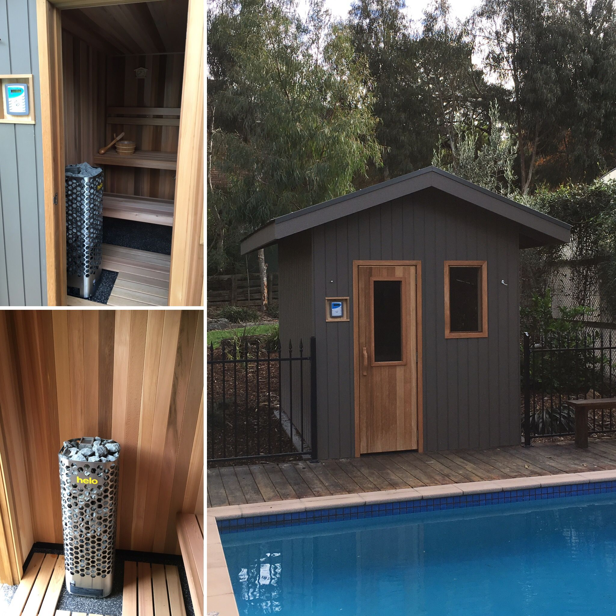 Backyard bliss with a traditional sauna quality custom