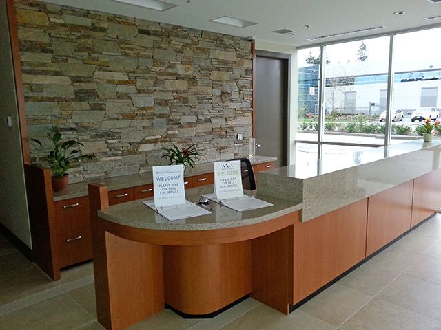 office counter tops. One Of Our Custom Millwork Projects - A Gorgeous Reception Desk And Countertops By Smart Office Solutions! | About Solutions Pinterest Counter Tops
