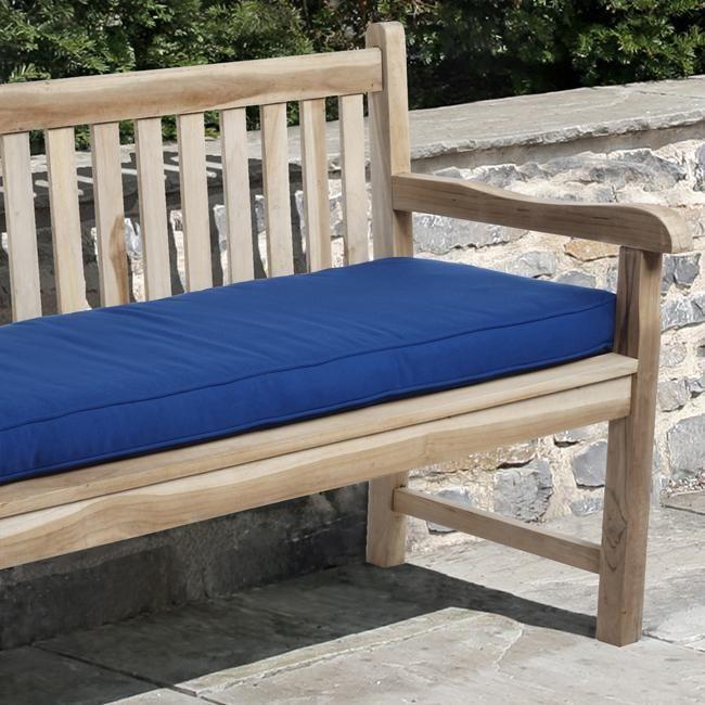 Fabulous Clara 60 Inch Outdoor Blue Bench Cushion Made With Sunbrella Bralicious Painted Fabric Chair Ideas Braliciousco