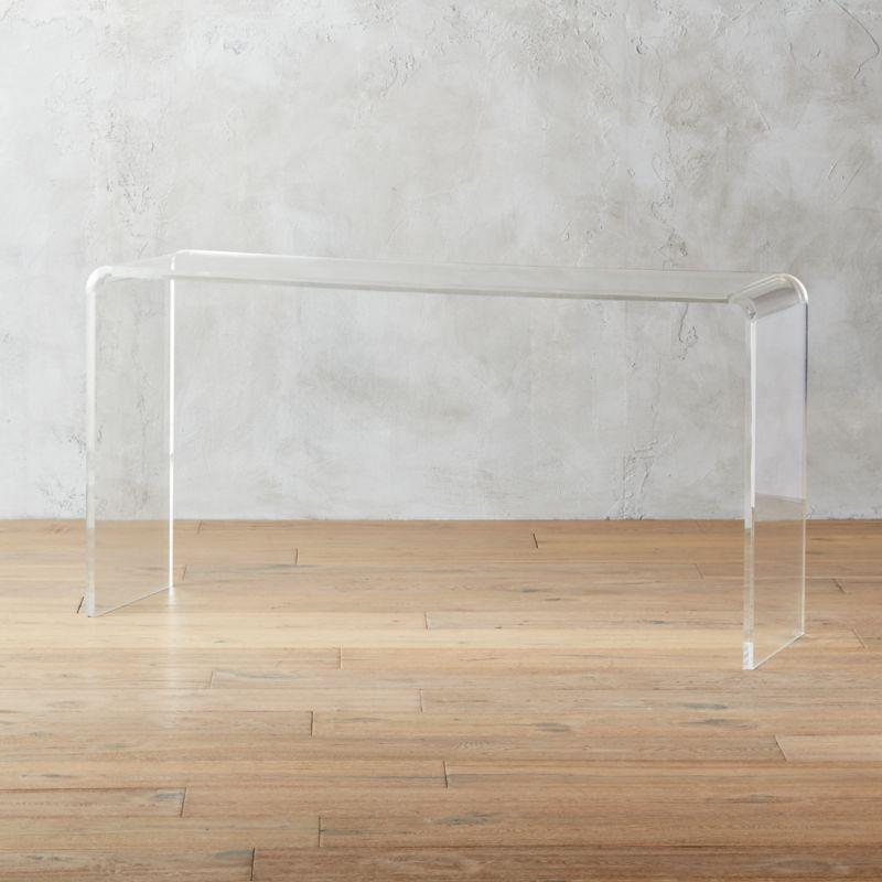 Peekaboo 56 Acrylic Console Table Reviews Cb2 In 2020