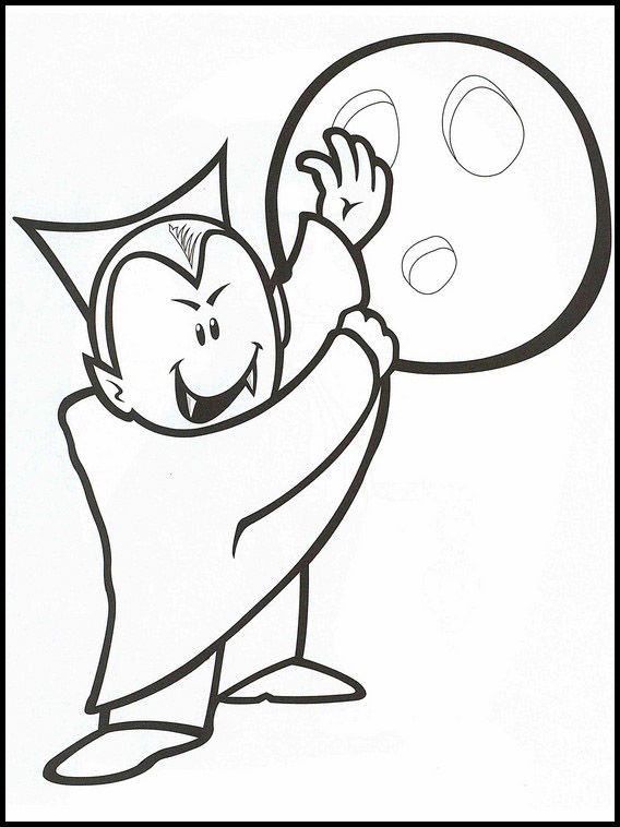 Dracula 2 Ausmalbilder für Kinder. Malvorlagen zum ...