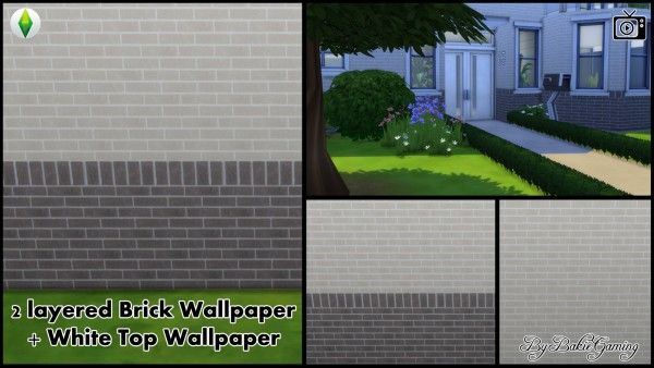 Mod The Sims 2 Layered Brick Wallpaper By Bakie Sims 4 Downloads Brick Wallpaper Outdoor Walls Brick