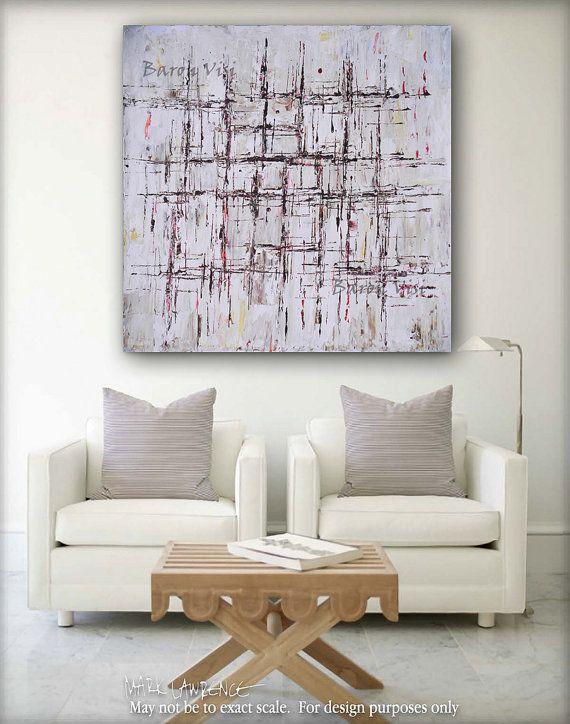 peinture marron, art abstrait peinture acrylique de 36\ - peinture murale interieur maison
