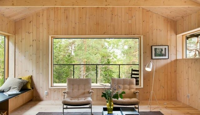 Scandi Decoration: Wooden summer cottage