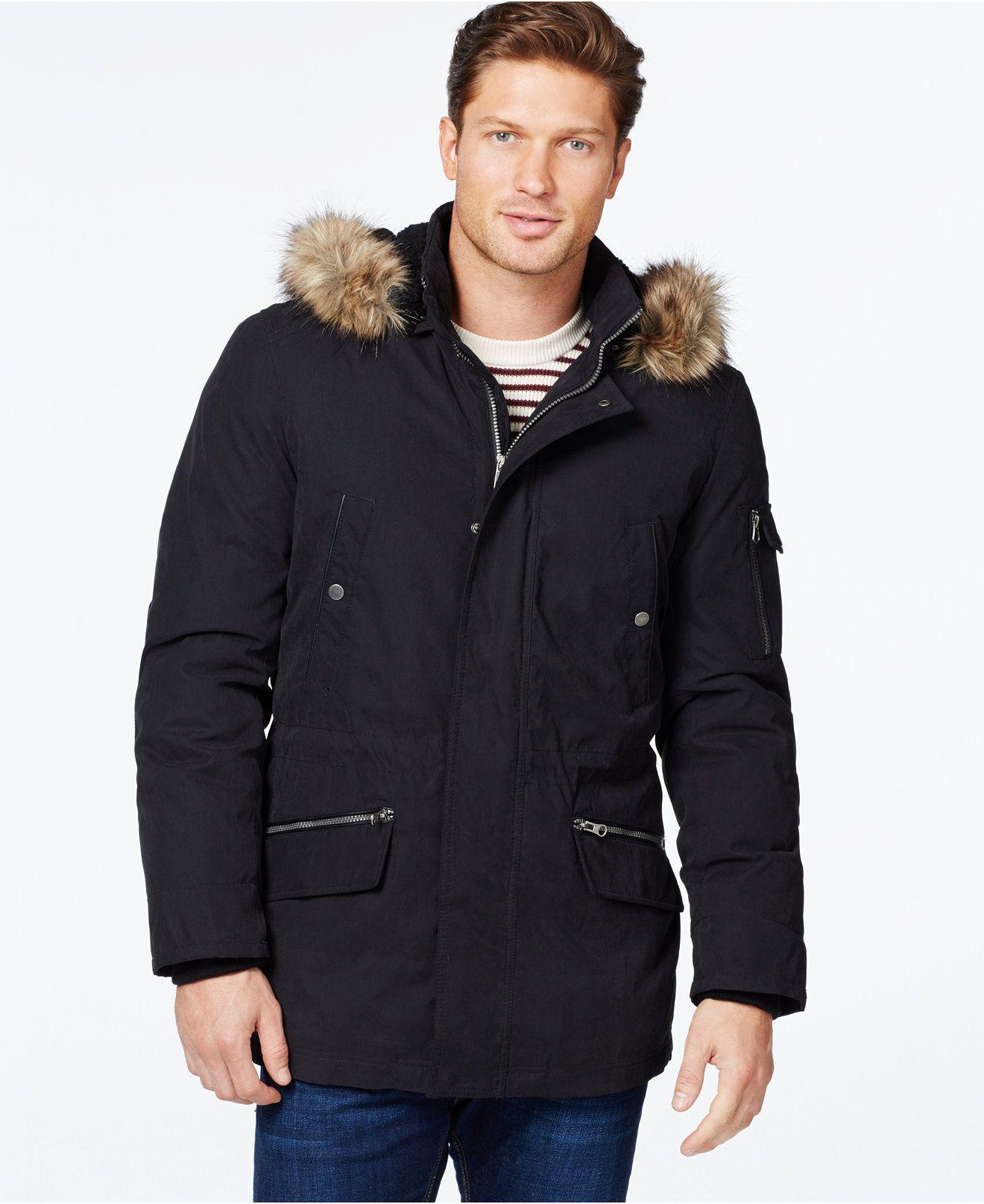 Nautica Parka With Removable Faux Fur Hood Coats Jackets Men Macy S Mens Parka Jacket Faux Fur Parka Fur Hood Jacket [ 1616 x 1320 Pixel ]