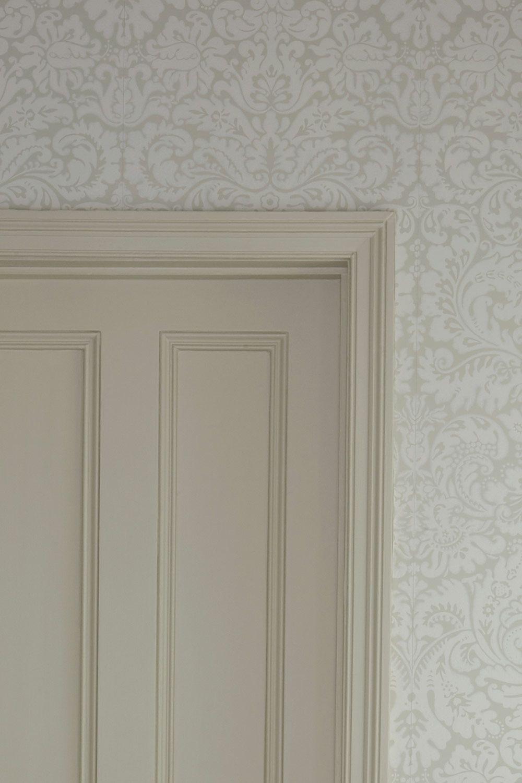 Colours joa 39 s white farrow ball south facing red - Dimity farrow and ball living room ...
