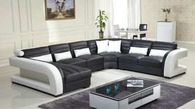 Black And White Sofa Set Designs For Modern Living Room Interiors 8