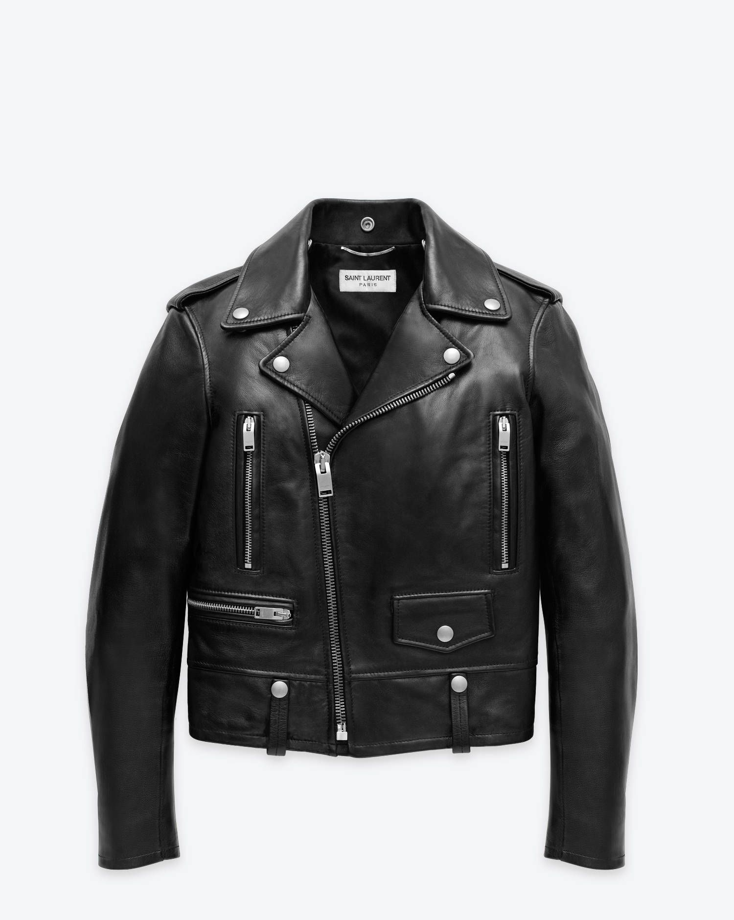 e13bf3c01d L01 Classic Motorcycle Jacket in Black Leather - Leather Jackets ...