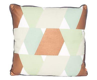 Cuscino arredo in cotone Layers rame, 45x45 cm