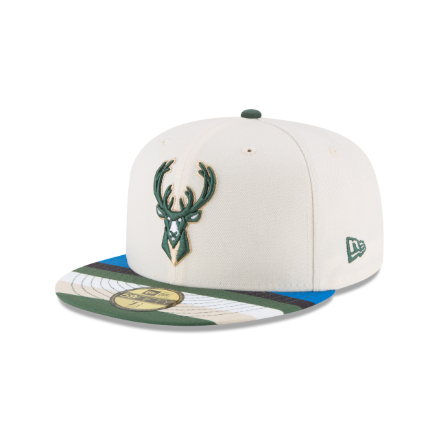 d8f9649d029 MILWAUKEE BUCKS CITY SERIES 59FIFTY FITTED 3 quarter left view ...