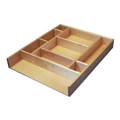 Rev-A-Shelf Large Adjustable Wood Drawer Organizer Kit-LD-4CT21-1 - The Home Depot