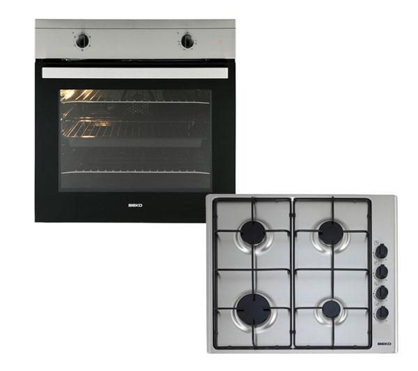 Beko Osf21133sx Built In Electric Oven Gas Hob Stainless Steel