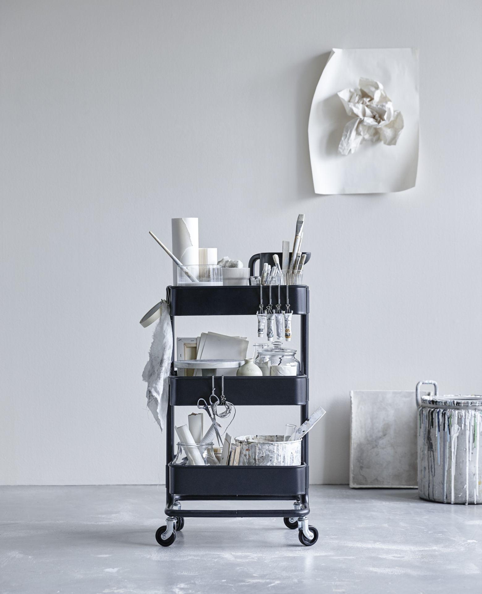 Raskog Roltafel Zwart Raskog Keukentrolley Ikea En Opruimideeen