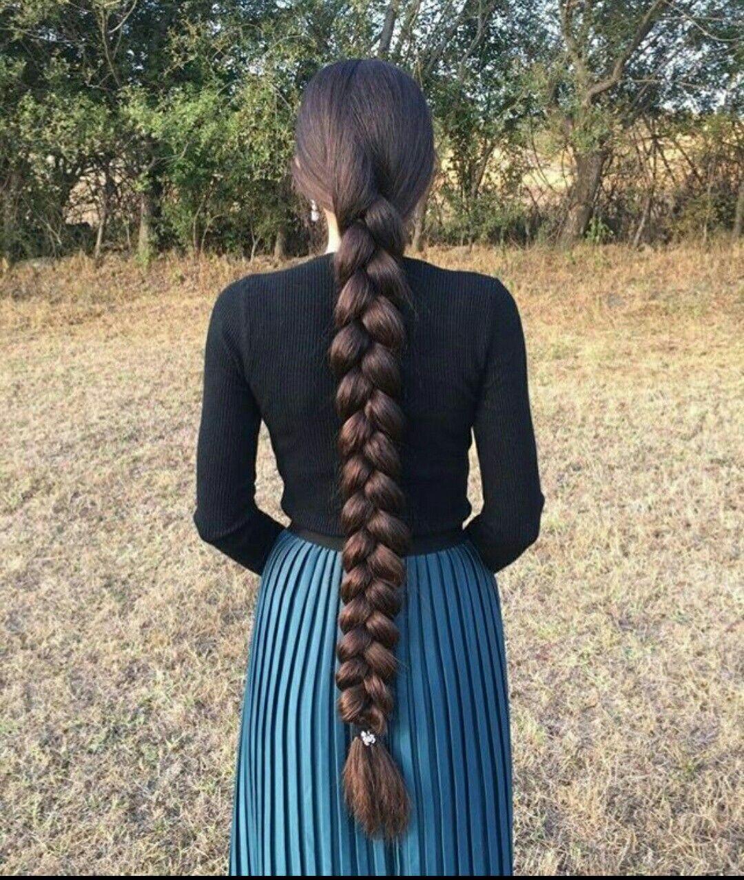 Длинная коса до жопы #9