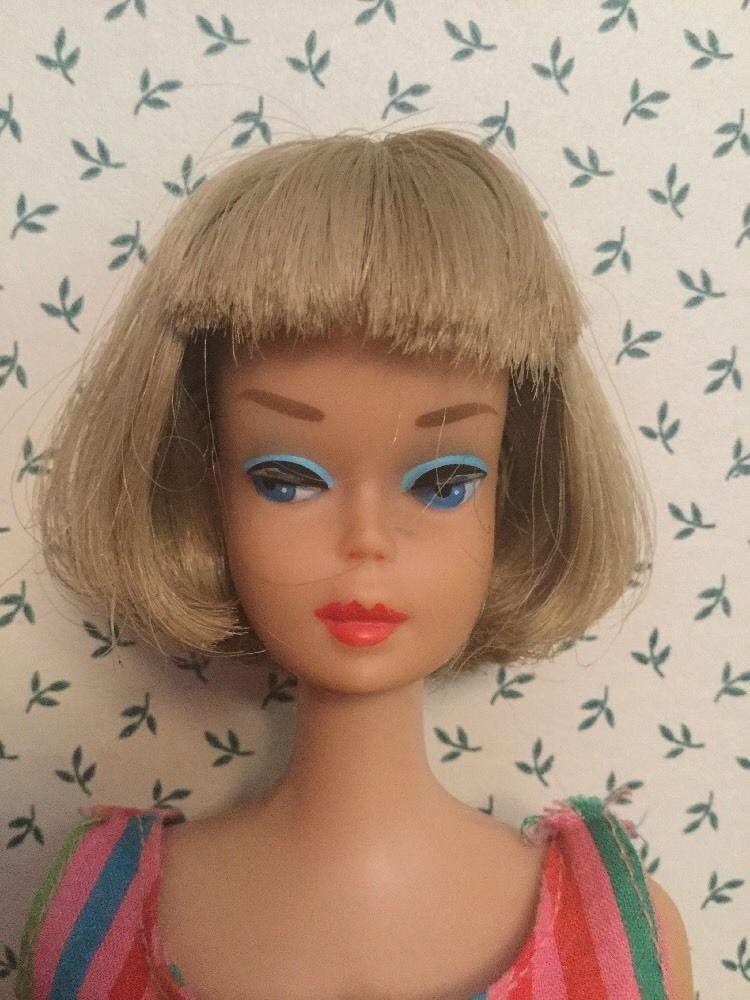 Vintage Long Hair Ash Blonde Silver American Girl Barbie ...