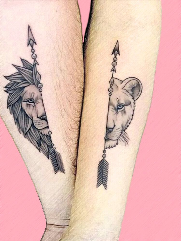25 Romantic Matching Couple Tattoos Ideas for your beauty - ShowmyBeauty