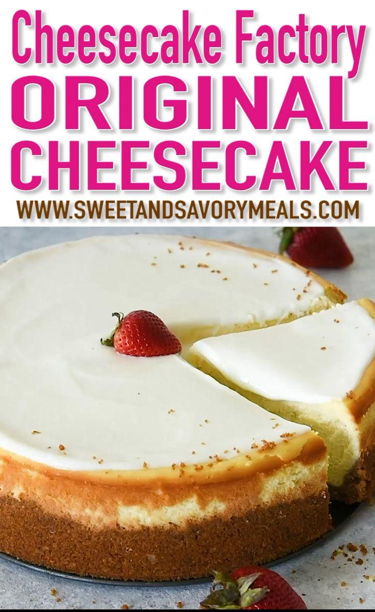 Cheesecake Factory Original Cheesecake Copycat Rec