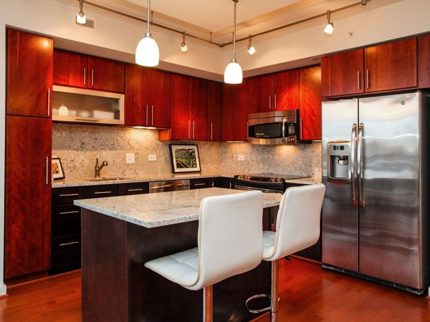 Best Modern Kitchen With Cherry Wood Cabinets And Wood Floors 400 x 300