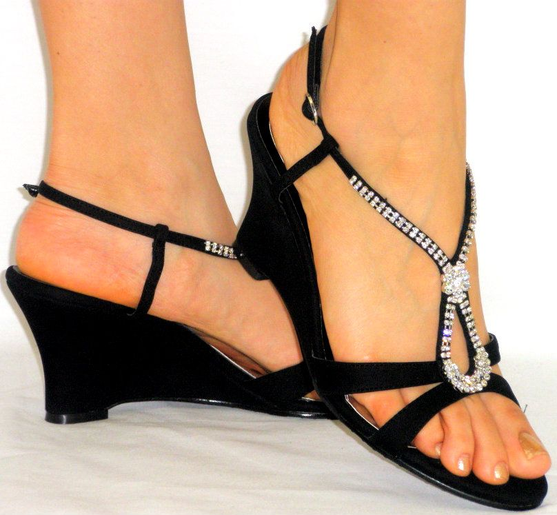 2d83623f16 Comfy Medium Wedge Low Heels Comfy Heels, Sexy Sandals, Shoes Sandals, Shoe  Boots