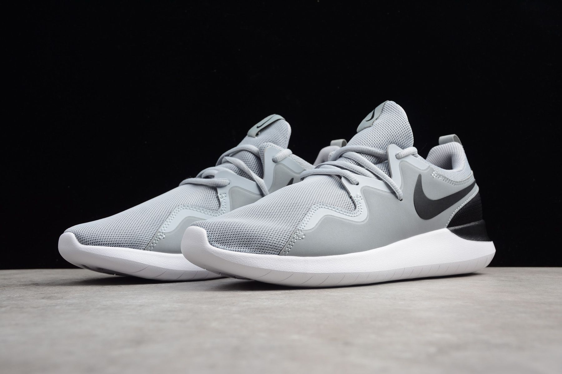 reputable site 7a72b 79e8a Men s Nike Tessen Wolf Grey Black-White Shoes AA2160-002