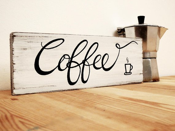 Pallet Wood Coffee Sign, Coffee Sign on Wood, Wooden ...