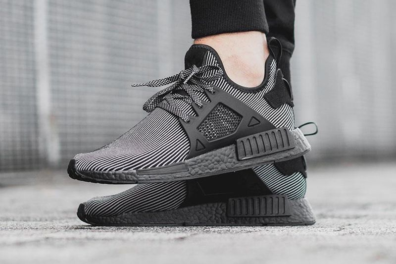 premium selection a2cbe 85f03 Adidas Nmd XR1 Primeknit Triple Black Boost On Feet | adidas ...