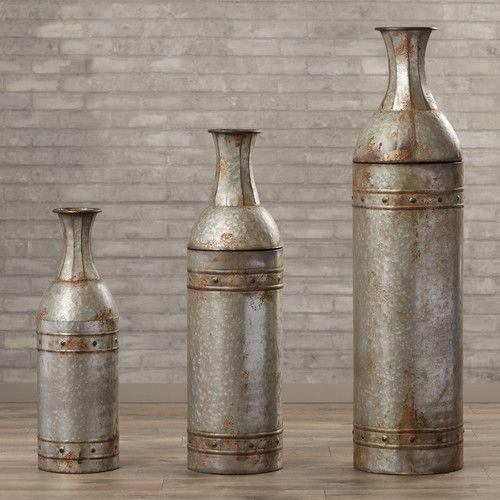 Haverhill 3 Piece Floor Vase Set Floor Vase Vase Set Large
