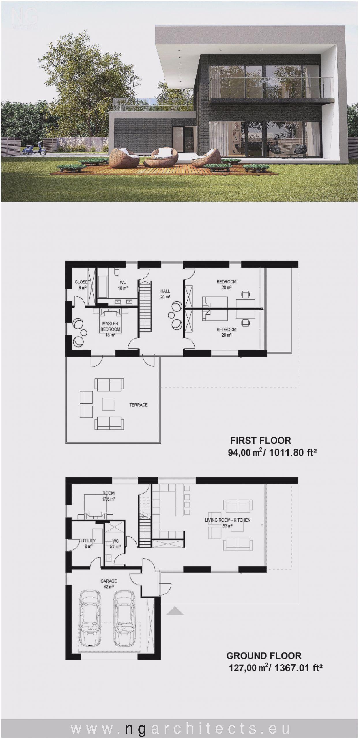 Single Story Modern House Plans Of Homeplans Architectural House Plans Modern Villa Design Villa Design