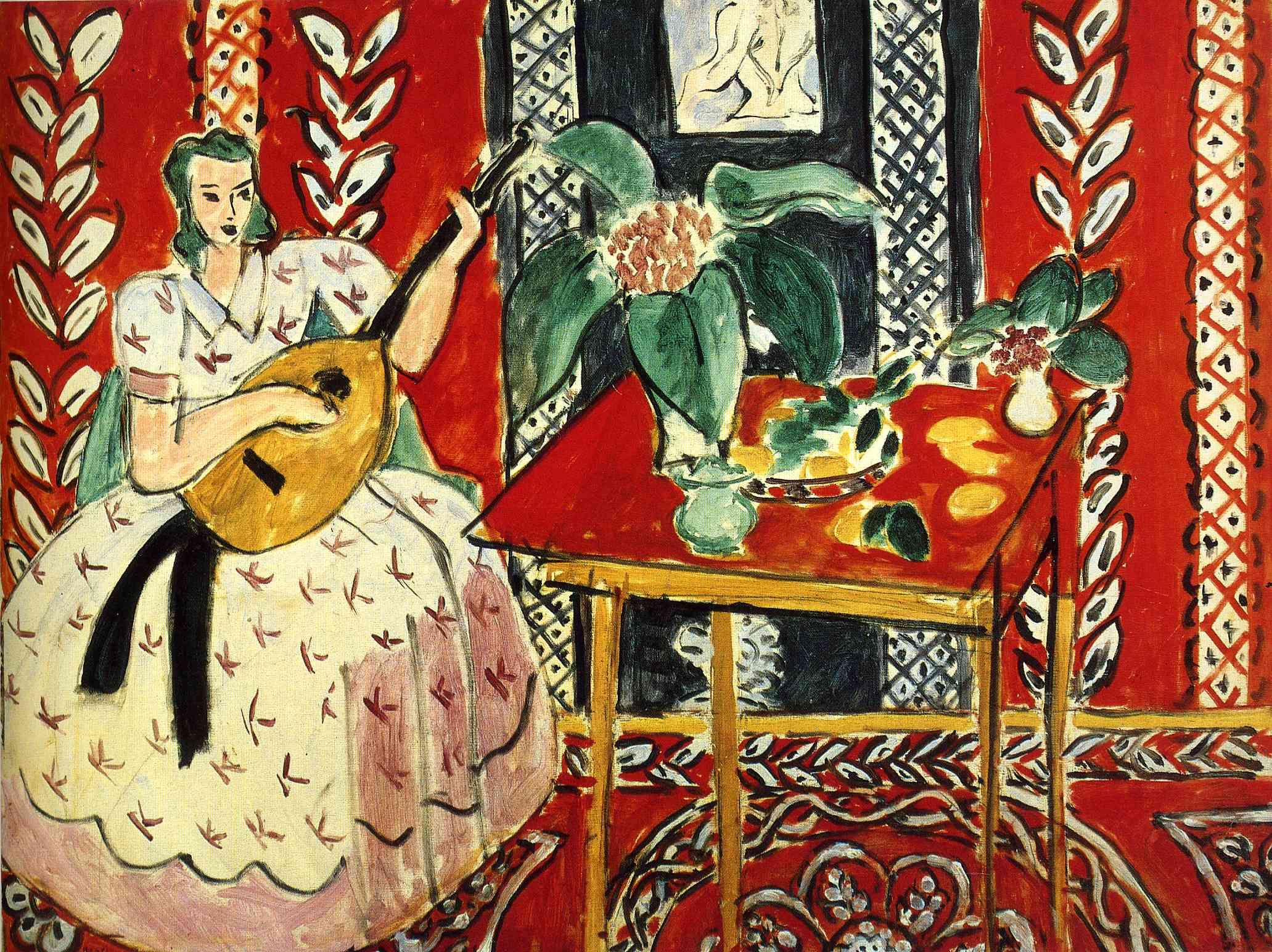 Henri Matisse - The Lute, 1943, oil on canvas | Style Me Pretty ...
