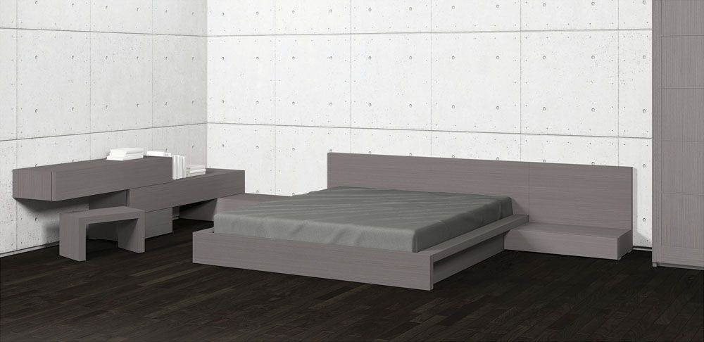Colección PILEF. Dormitorio Acabado plomo