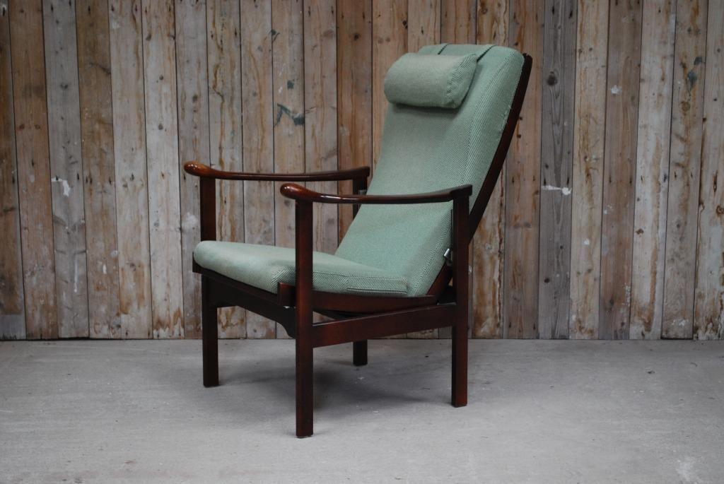 Vintage Fauteuil Kopen.Vintage Scandinavische Fauteuil Verstelbaar Groen Grijs