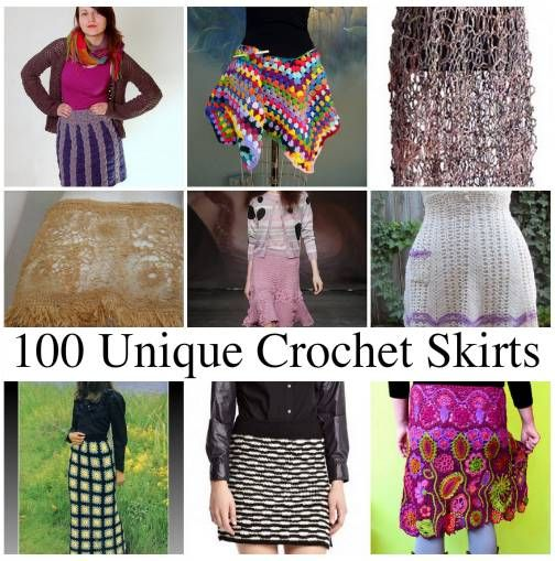 100 Unique Crochet Skirts | Häkeln