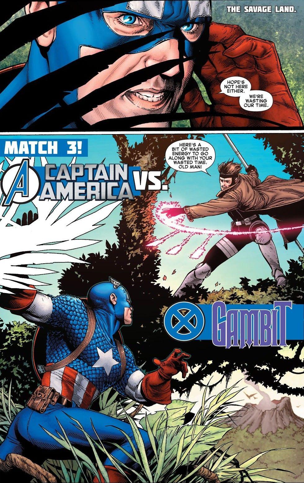 Gambit Vs Captain America Avx Vs 2 Avengers Comics Gambit Marvel Marvel Superheroes