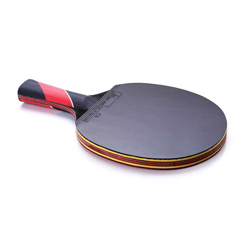 Best Quality Carbon Bat Table Tennis Racket With Rubber Pingpong Paddle Short Handle Tennis Table Rackt Long Handle Of Table Tennis Racket Table Tennis Rackets