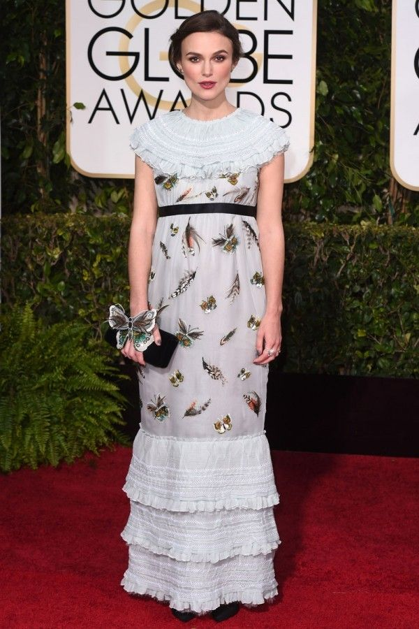 Keira Knightley At The Golden Globes