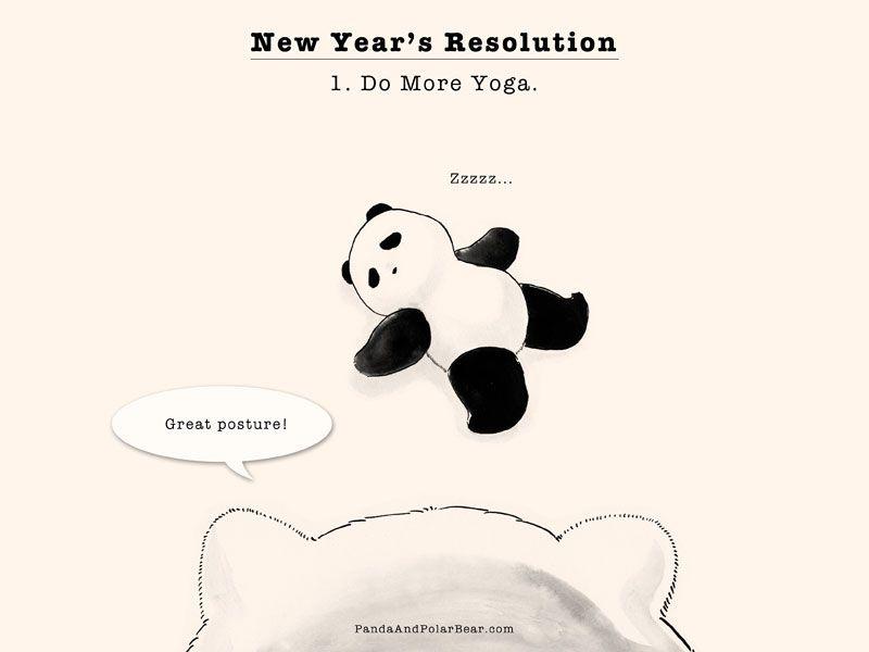 New Year's Resolution by pandaandpolarbear #Illustsration